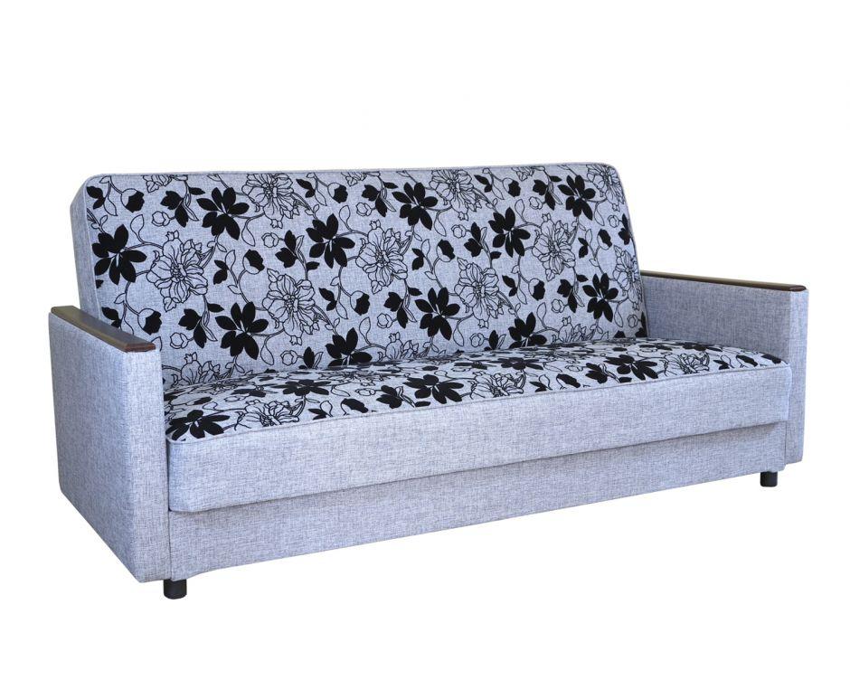 Диван-кровать Классика Д шенилл серый цветы