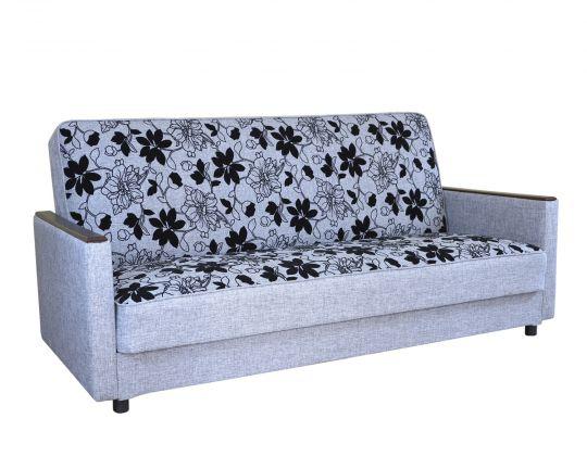 """Диван-кровать """"Классика Д"""" шенилл серый цветы"""