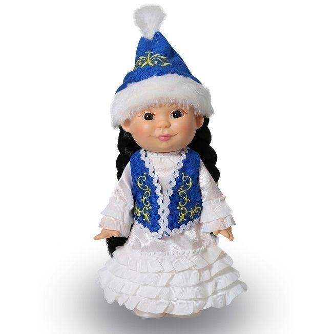 Веснушка Весна в казахском костюме (девочка)