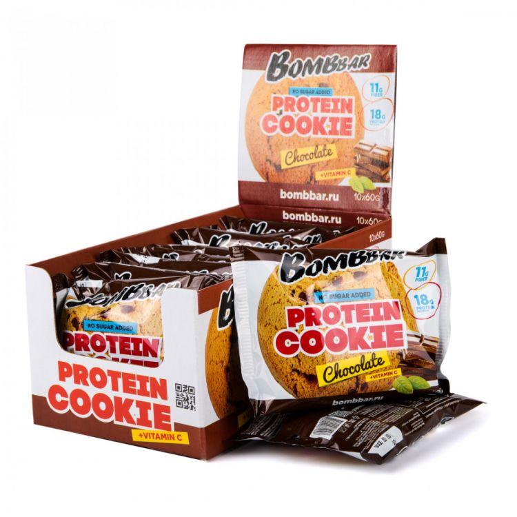 """Протеиновое печенье от Bombbar """"шоколад"""" 60 гр"""