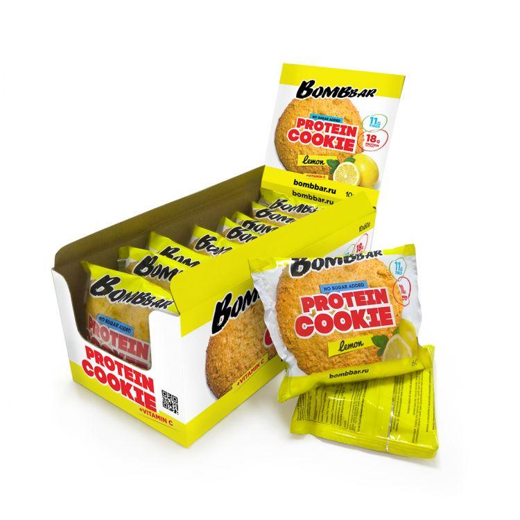 Протеиновое печенье от Bomb Bar Лимон 60 гр