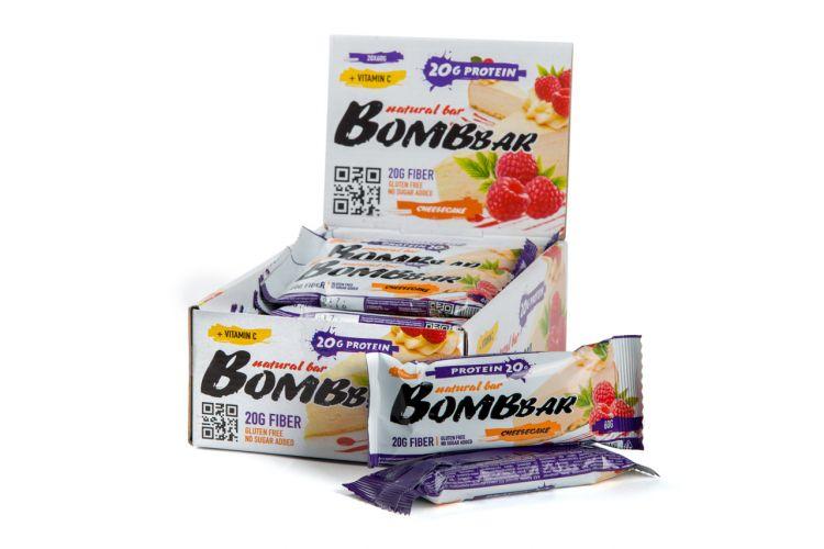 """Bombbar со вкусом """"малиновый чизкейк"""" 60 гр"""