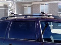 Багажник на рейлинги Chevrolet Niva, Евродеталь, крыловидные дуги