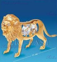 "Фигурка лев с камнями ""Swarovski"""