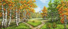 A-333a Svit Art. Тихий Осенний Лес. панно (набор 1600 рублей)