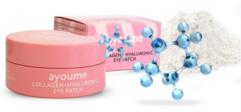 Патчи для глаз с коллагеном и гиалуроновой кислотой AYOUME COLLAGEN + HYALURONIC EYE PATCH