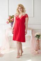 Ночная сорочка арт.0303 красная, вискоза