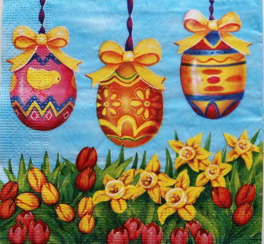 Салфетка бумажная 30*30 Пасхальные яйца