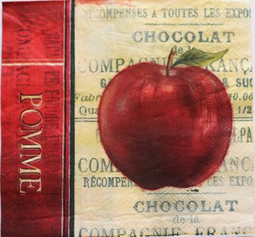 Салфетка бумажная 30*30 Яблоко и виноград
