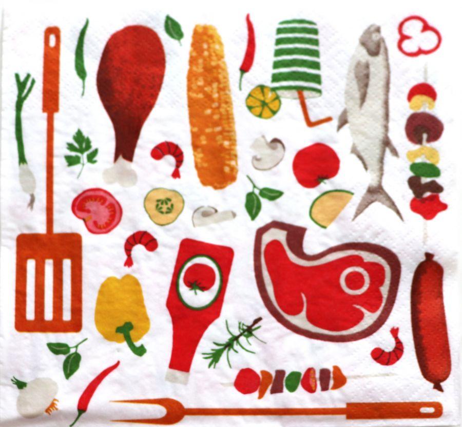 Салфетка бумажная 30*30 Кухонная миниатюра