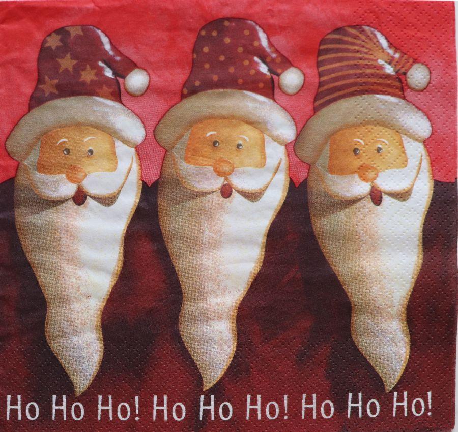 Салфетка бумажная 30*30 Ho-ho-ho