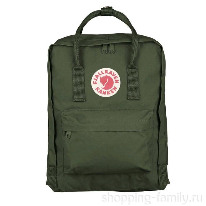 Городской сумка-рюкзак Fjallraven Kanken Classic, Цвет Лесной зелёный