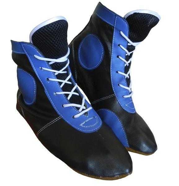 Самбовки синие ATEMI кожа ASSH-01