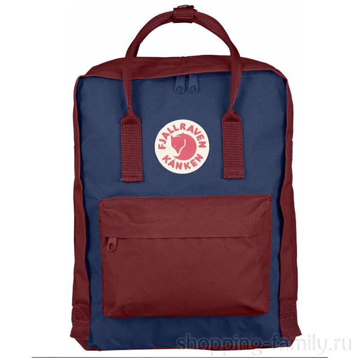 Городской сумка-рюкзак Fjallraven Kanken Classic, Цвет Синий-охра