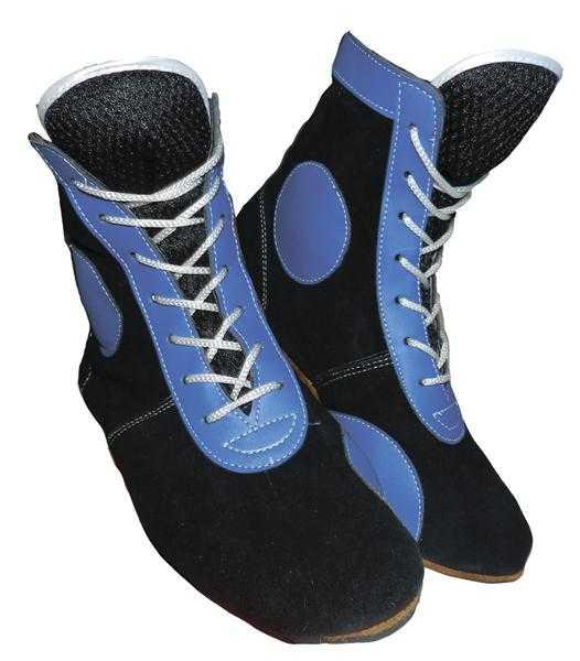 Самбовки синие ATEMI натуральная замша ASSH-02