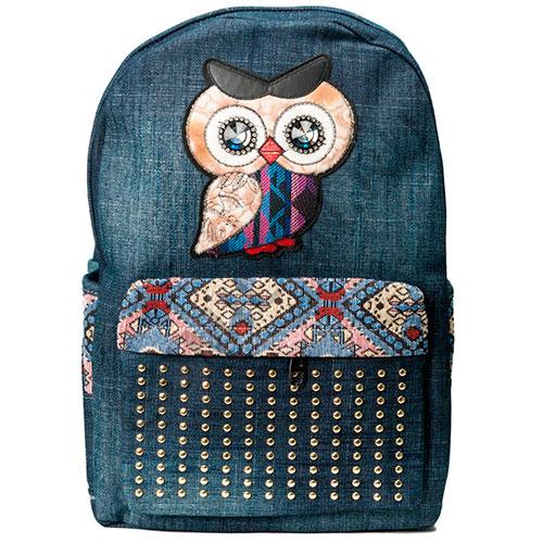 Красивый джинсовый рюкзак