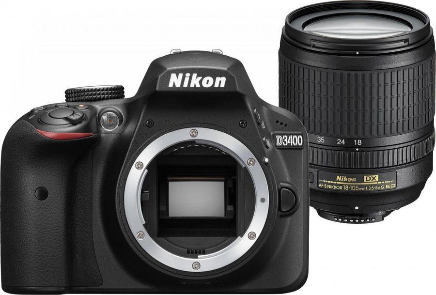 Nikon D3400 Kit 18-105mm f/3.5-5.6G AF-S ED DX VR Nikkor