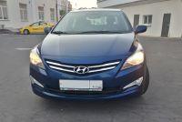 Аренда автомобиля Hyundai Solaris 2016 года синего цвета