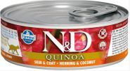 Farmina N&D консервы для кошек с киноа, сельдь и кокос 80 гр