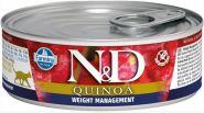Farmina N&D  консервы для кошек с киноа, для контроля веса 80 гр