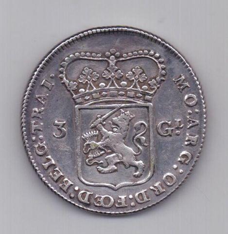 3 гульдена 1786 года AUNC Нидерланды