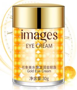 Антивозрастной увлажняющий крем для глаз Images Eye Cream с золотом. (0494)
