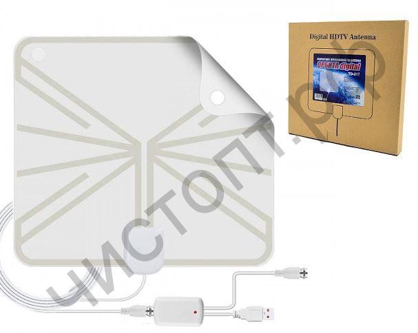 Антенна ОРБИТА TD-017 комн. c усилителем питание USB