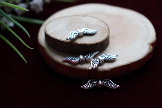 Металлические бусины, Крылья, 4 шт/упак