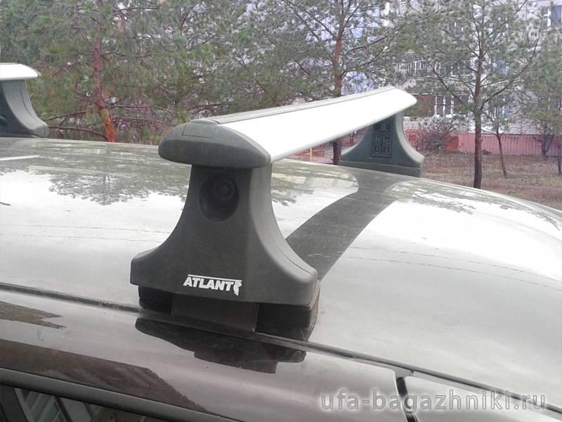 Багажник на крышу Chevrolet Niva, Атлант, крыловидные аэродуги
