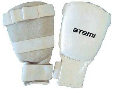 Перчатки для карате ATEMI белые PKP-453