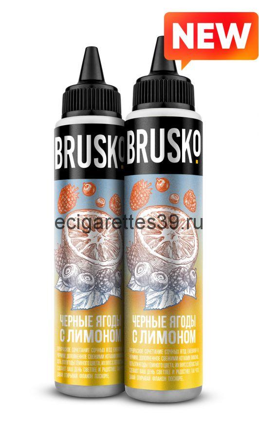 Жидкость Brusko, Черные ягоды с лимоном, 60 мл.
