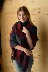 Теплая шаль  100 % стопроцентная шотландская овечья шерсть, тартан  клана Линдси LINDSAY MODERN TARTAN