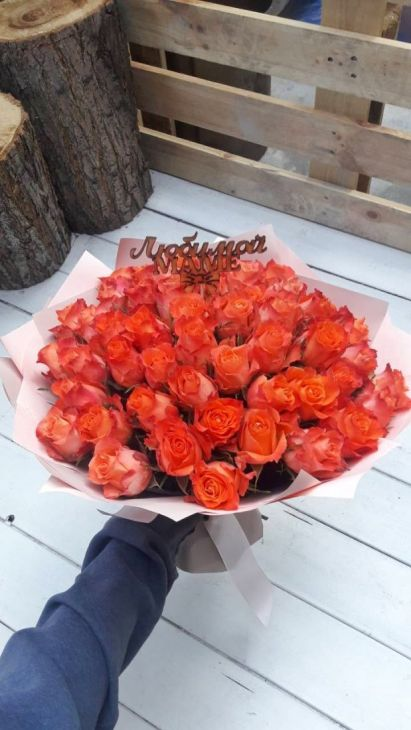 Букет из 51 розы Маме