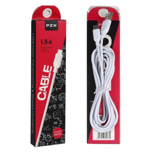 Кабель USB PZX S-02 (microUSB) 2 м