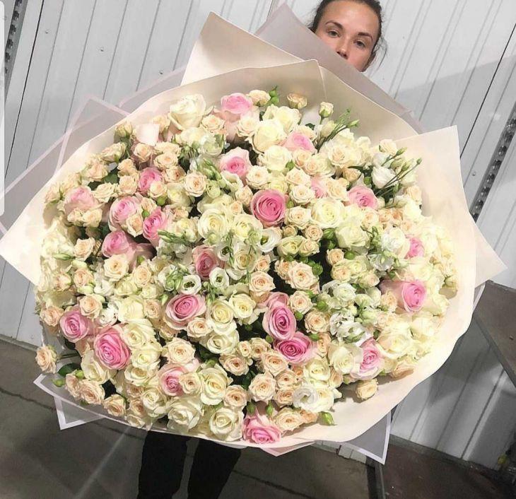 Огромный микс роз