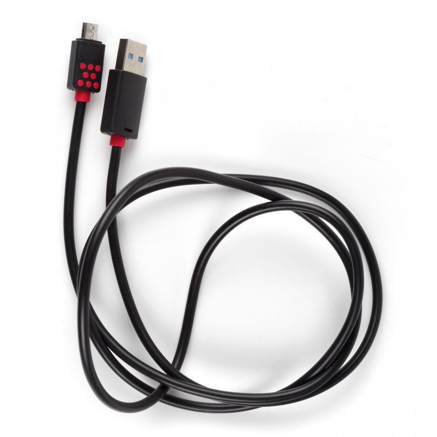 Кабель USB OL-124 (microUSB) черный