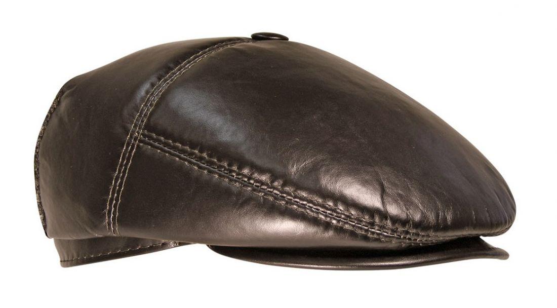 Кепка Наппа коричневая