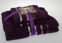 Комплект из 4-х махровых полотенец BALE (50*80)*2+(70*140)*2 (фиолетовый) Арт.953-28