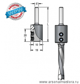 Переходник для сверла присадочного на круглый хвостовик 12 WPW TA10002
