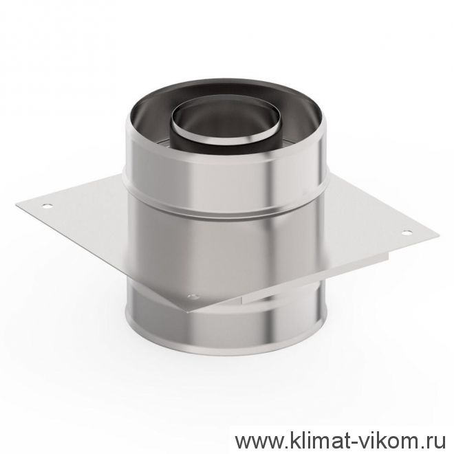 Монтажная площадка ф 150х250, AISI 439/Оц, 1,0мм/0,5мм