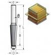Фреза обгонная для снятия фасок B54 D12.7 Угол 3 S12  WPW SL20392