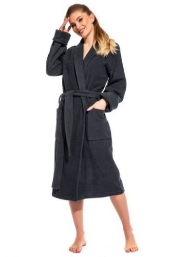 Женский махровый халат Gray Label