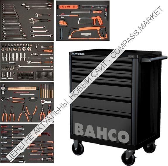 Инструментальная тележка с 247 предметами, 6 ящиков BAHCO (Швеция)