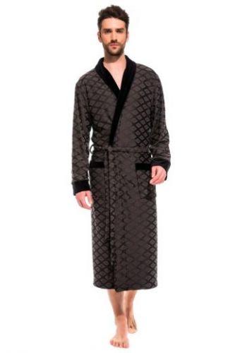 Облегченный махровый халат из бамбука Organique Bamboo темно-серый