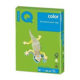 "Бумага цветная ""IQ Color"", А4, 80 г/м2, ярко-зеленый, 500 листов (арт. MA42)"
