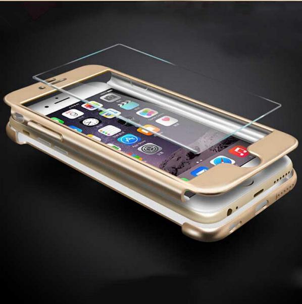 Чехол Paky 360 градусов защиты со стеклом на экран для iPhone 7 Plus, 8 Plus Золотой