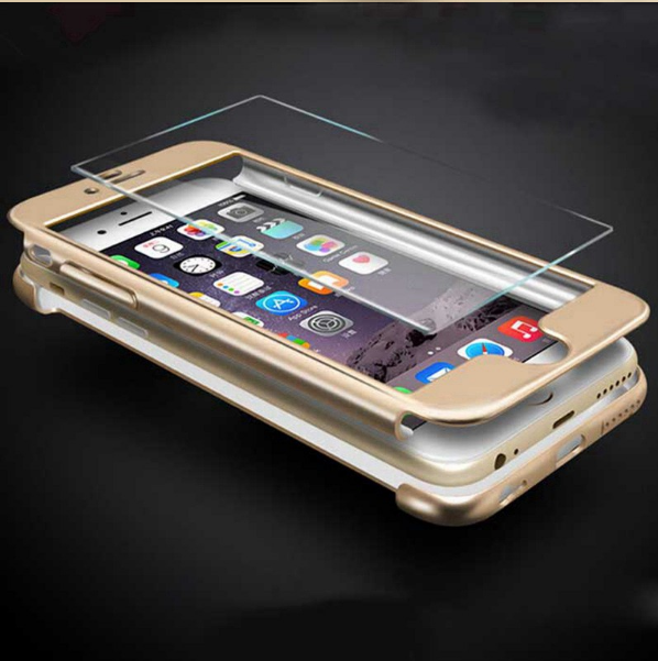 Чехол Paky 360 градусов защиты со стеклом на экран для iPhone 7 Plus, 8 Plus Красный