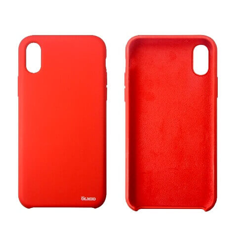 Чехол Olmio Silicone Velvet для iPhone X, XS Красный