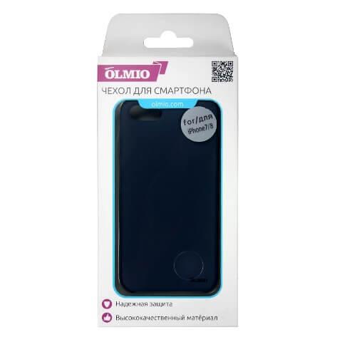 Чехол Olmio Silicone Velvet для iPhone 7/8 Синий