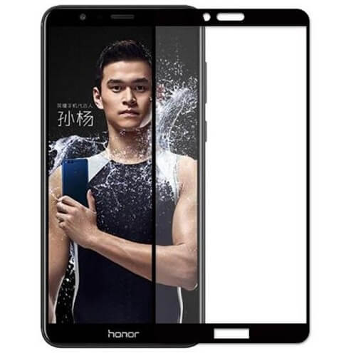 Защитное стекло полное (2.5D) для Huawei Honor 7A Pro, 7C, Y6 Prime 2018 Черный